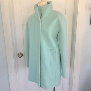 Pastel blue J.Crew spring wool Cocoon Jacket 6